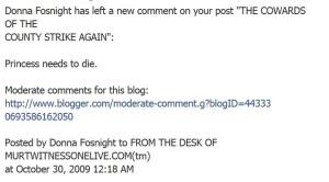 Donna blog comment